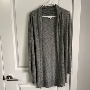 ARITZIA WILFRED GREY LONG CARDIGAN - SIZE SMALL